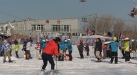 JVC GZ-R475BAC摄像机滑雪场实拍4