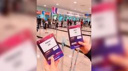 到达巴塞罗那机场,领取MWC19的媒体证