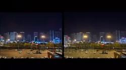 华为Mate30Pro对比iPhone11夜景拍照对比,鞍山