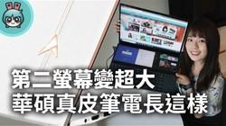 华硕4K双萤幕笔记本!
