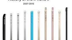 历史上的iPhone大对比