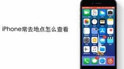 苹果手机常去地点怎么查看?
