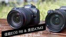 佳能EOS R6&索尼A7M3 怎么选?