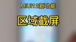 MIUI12新功能:区域截屏!十年前的东西,有用不?#小米10 #miui12